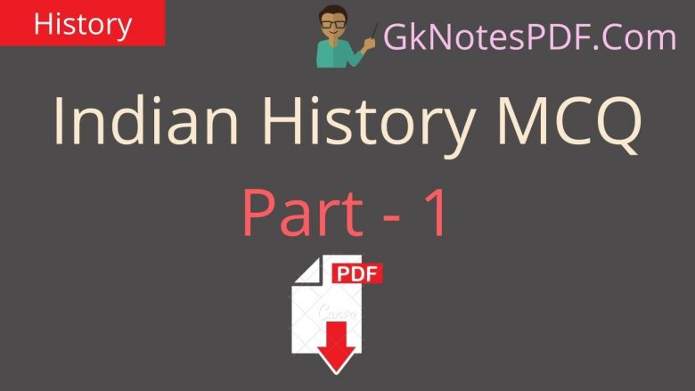 Indian History MCQ PDF in Hindi ,