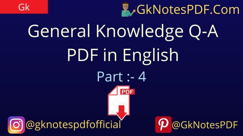 General Knowledge Questions-Answers PDF in English