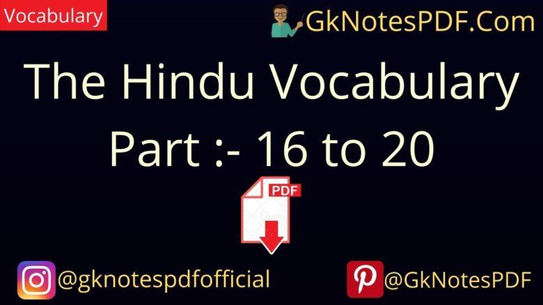 the hindu vocabulary pdf 2021