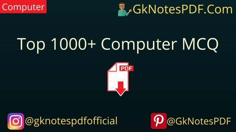 1000 Computer GK Question and Answer in Hindi PDF