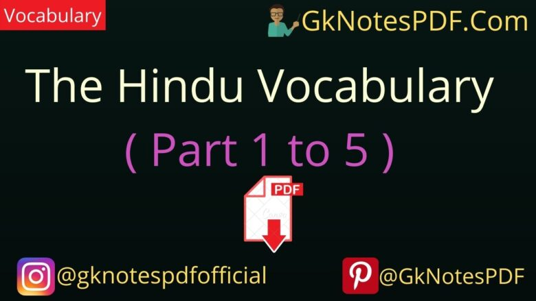 the hindu daily vocabulary with hindi meaning pdf