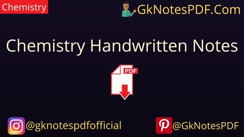 Chemistry Handwritten Notes PDF in Hindi