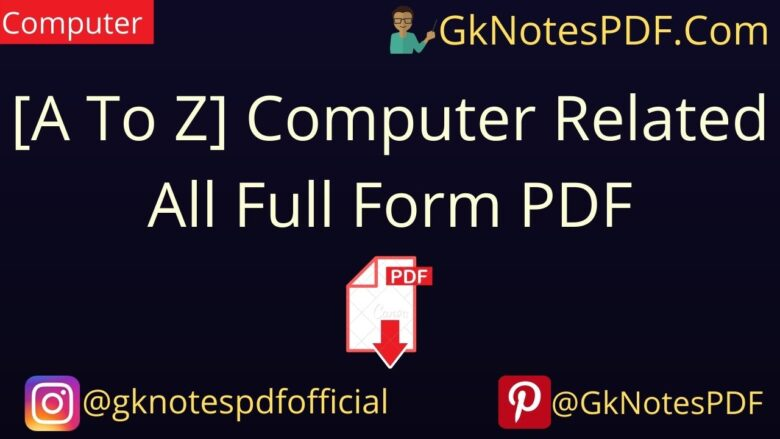 computer related all full form pdf
