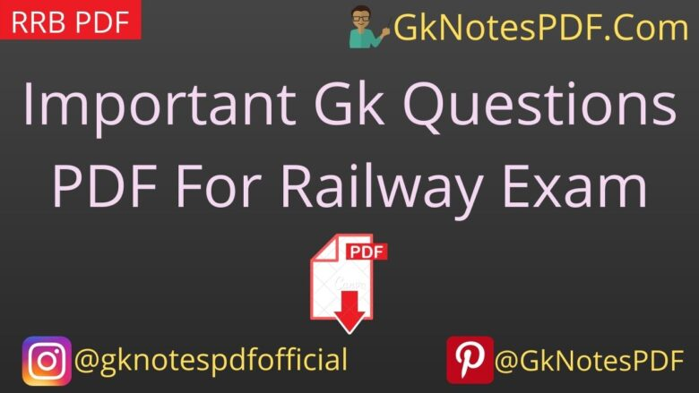 RRB Important Gk Questions-Answers PDF in Hindi