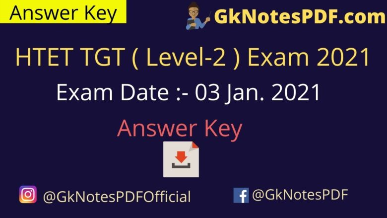 HTET TGT (Level-2) 3 January 2021 Exam Paper Answer Key