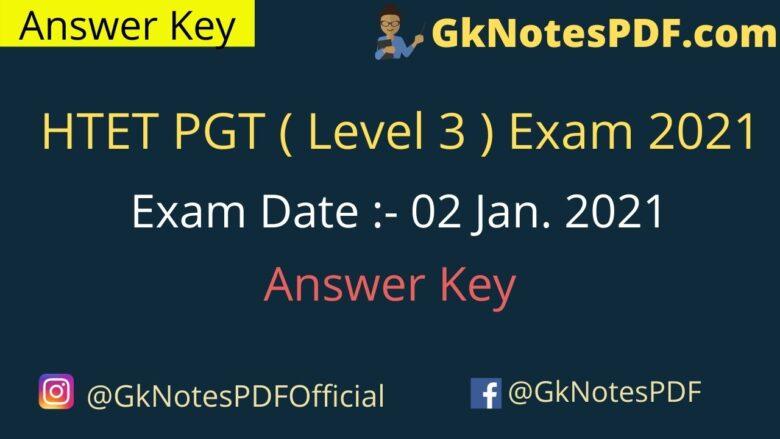 HTET Answer Key 2021