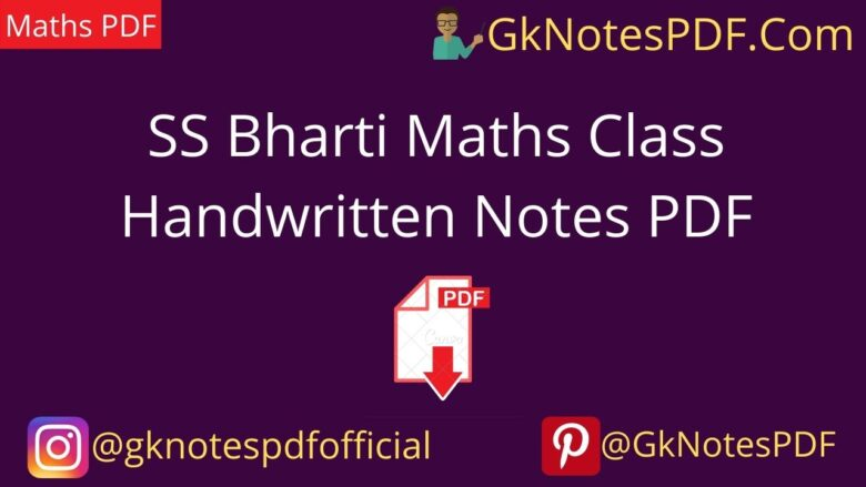 SS Bharti notes for SSC/ banking Exam class Notes