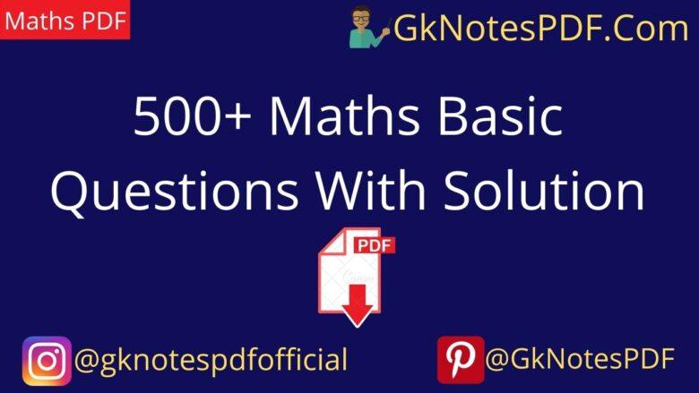 500+ quantitative aptitude topic wise questions