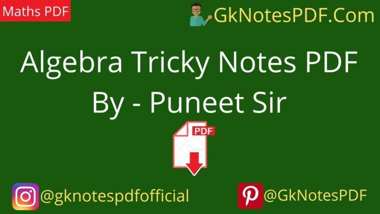Algebra Tricks Notes PDF in Hindi