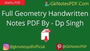 geometry handwritten notes in hindi