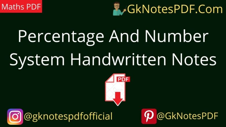 Percentage And Number System Handwritten Notes