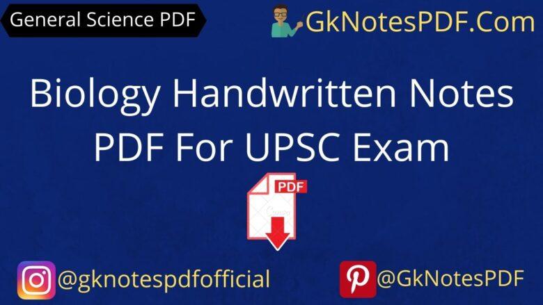 upsc biology handwritten notes in hindi pdf