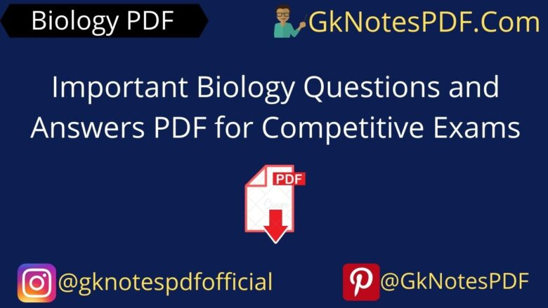 Important Biology Questions and Answers PDF