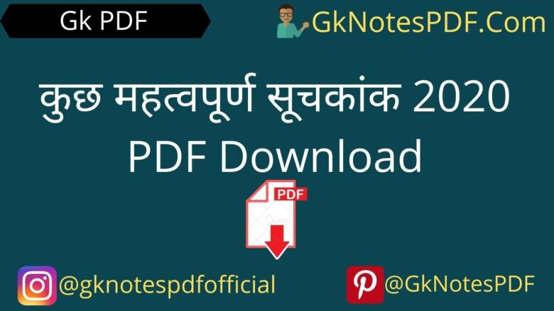 India's Rank In Different Indexes 2020 in Hindi PDF