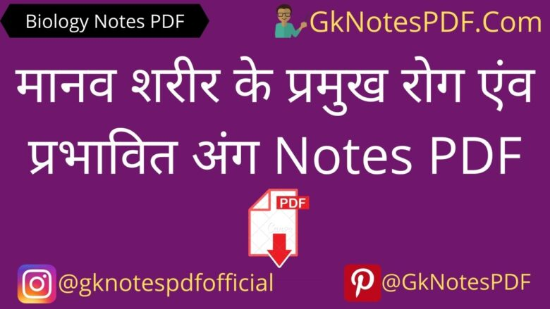 Human DiseasesNotes in Hindi PDF