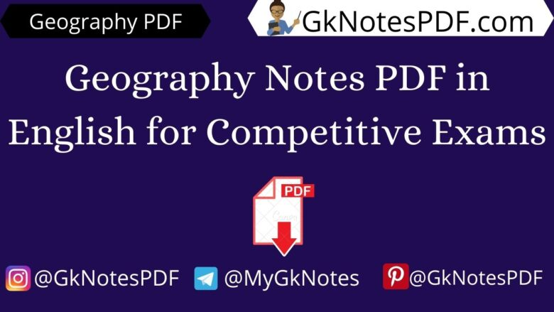 Geography Notes PDF in English