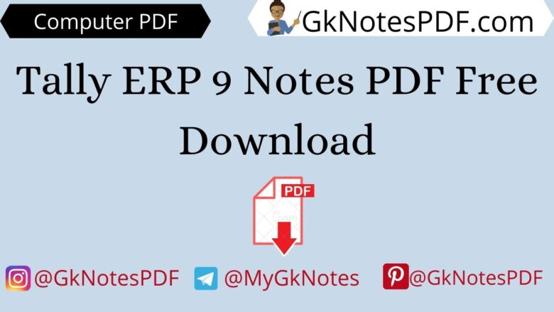 Tally ERP 9 Notes PDF Free Download