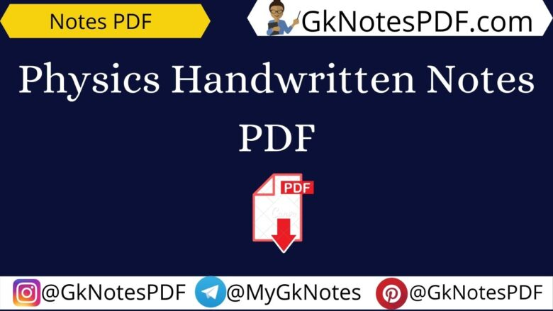 physics handwritten notes pdf free download