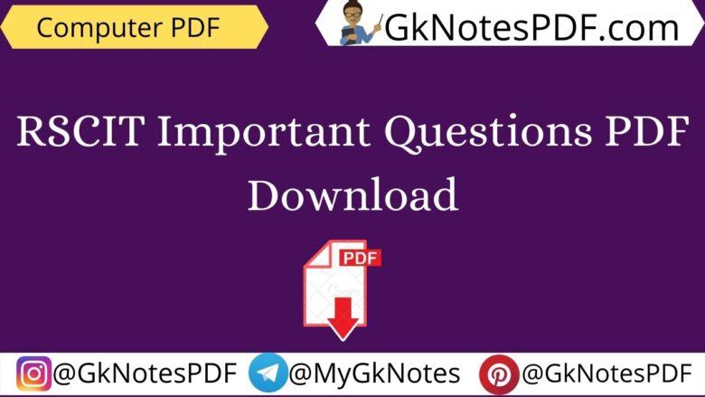 rscit objective question-answer pdf